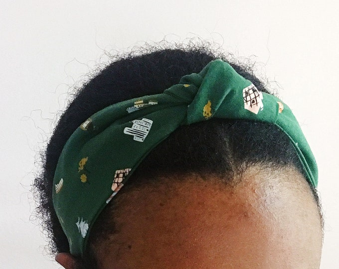 Hunter Green Travel Knotted & Twisted Headband