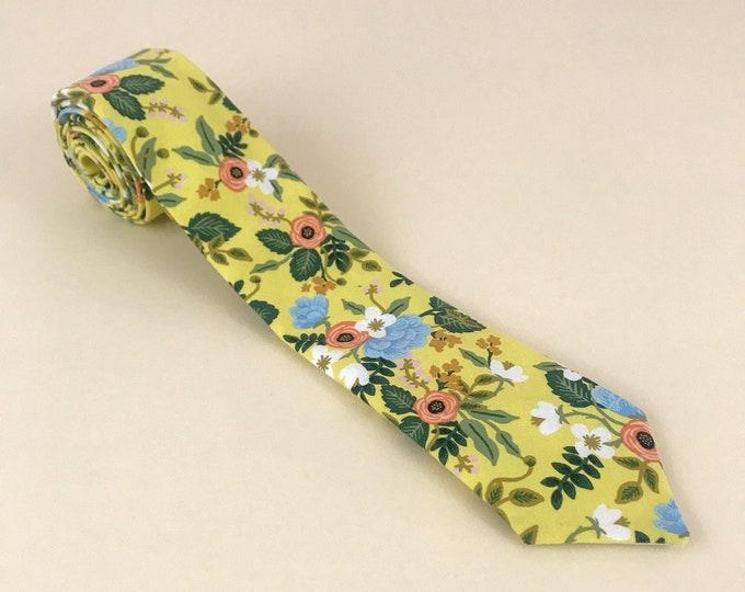 Pop Bloom Floral Necktie