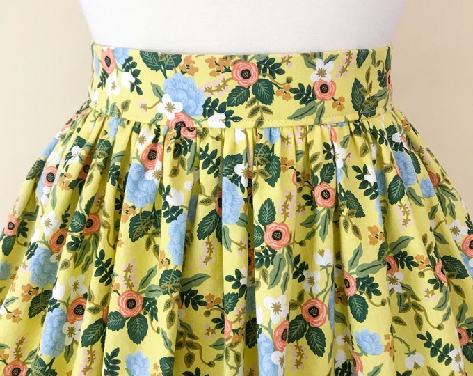 Yellow Floral Rifle Paper Co Skirt