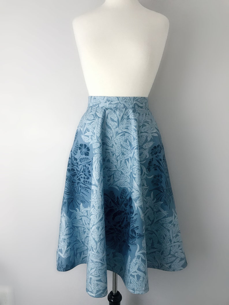 50s Style Modest Bouquet Custom Vintage Inspired Circle Skirt image 0