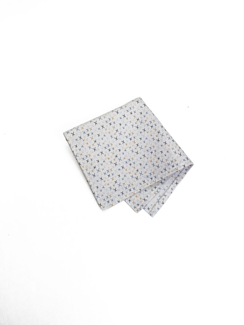 Quirky Fun X Print Menswear Wedding Pocket Square Under 25  image 0