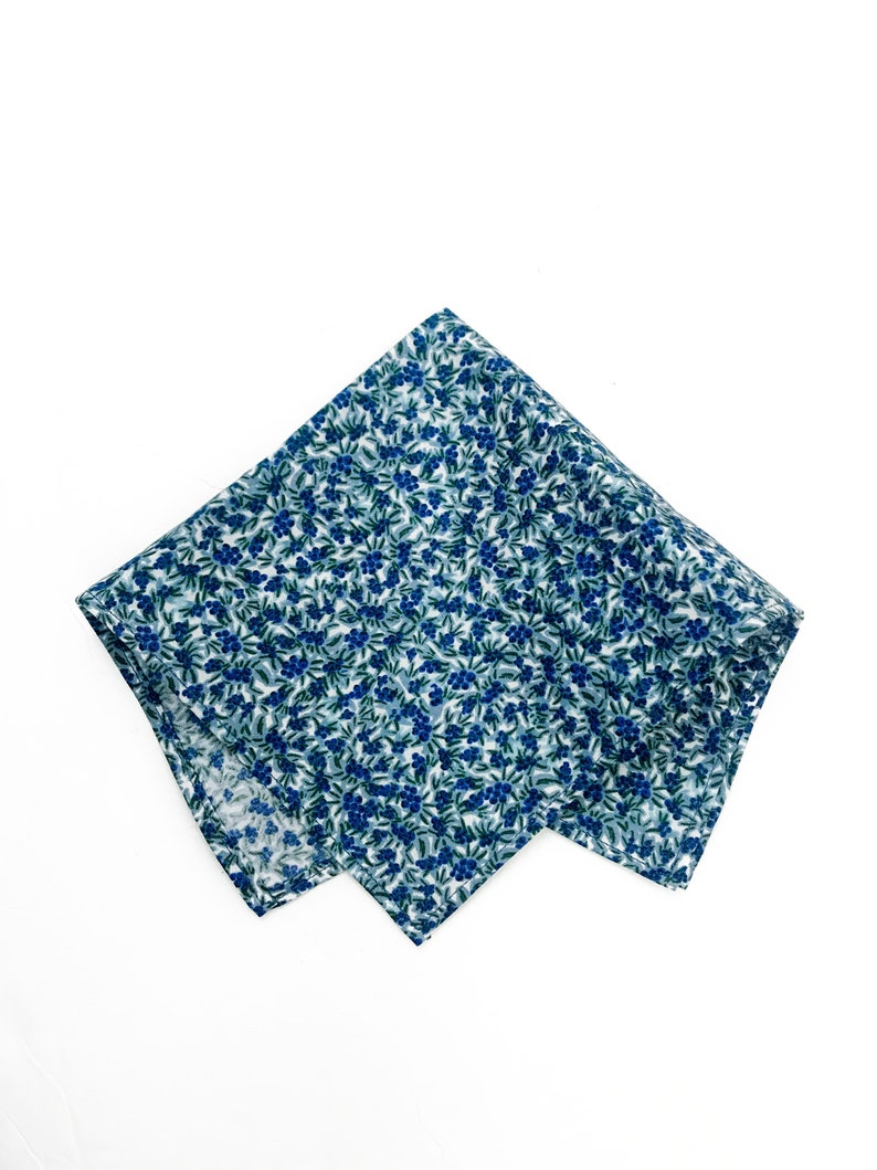 Blueberry Wedding Menswear Cotton Pocket Square  JW Gifts For image 0