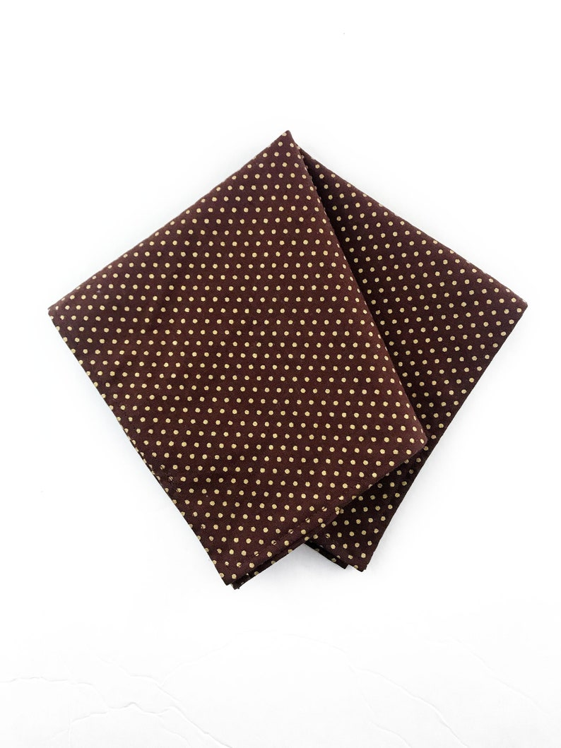 Gold Metallic Polka Dot Autumn Wedding Pocket Square image 0