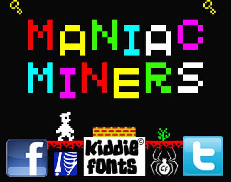 MANIAC MINERS Commercial Font image 0