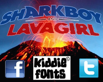SH@RKBOY and LAVAGIRL Commercial Font