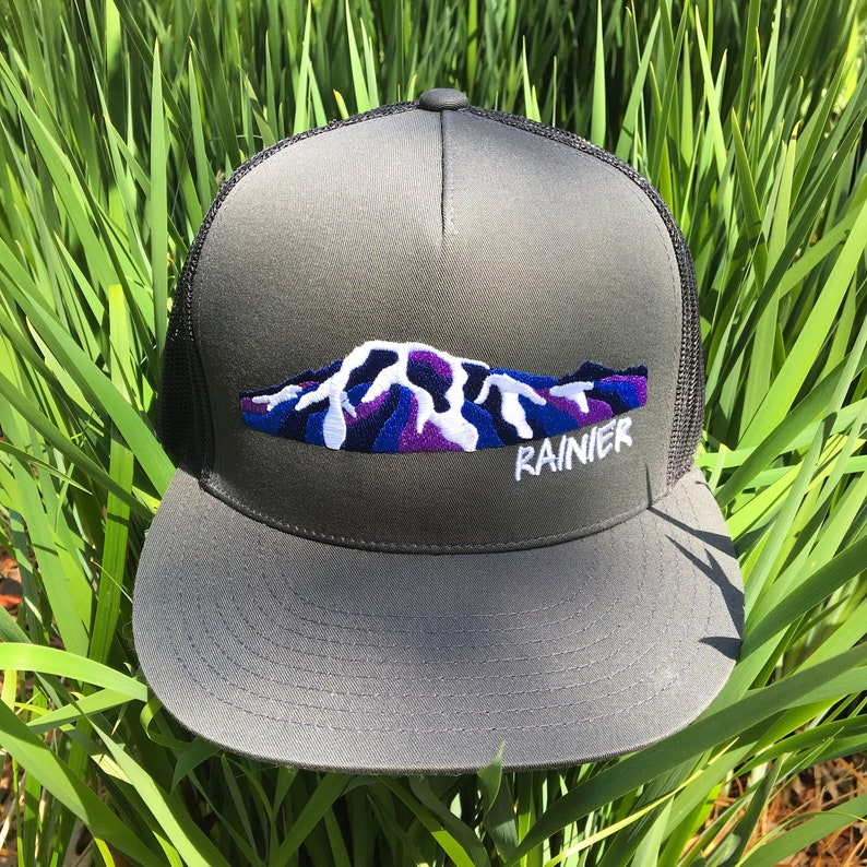 bd6739b5 Mount Rainier Alpenglow Trucker Hat | Etsy