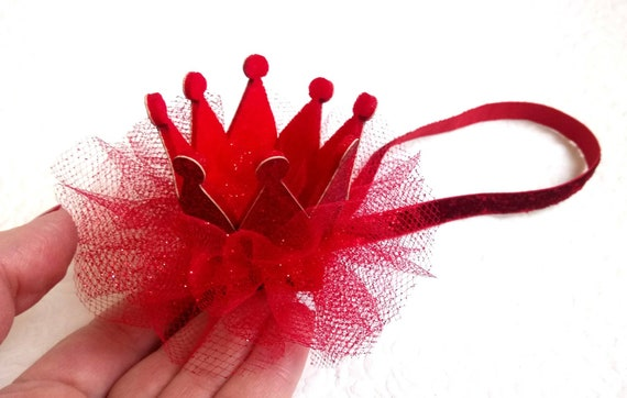 Baby Valentine s headband Red crown Girls gift Red crown  eed79224478