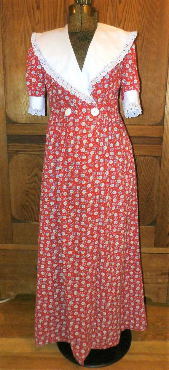 60/'s70/'s Regency styled dress SM