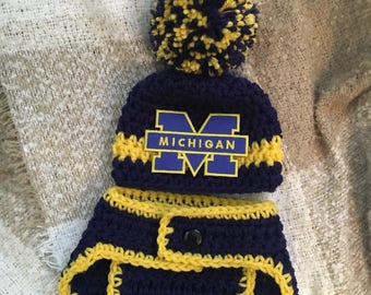 U Of Michigan Baby Etsy