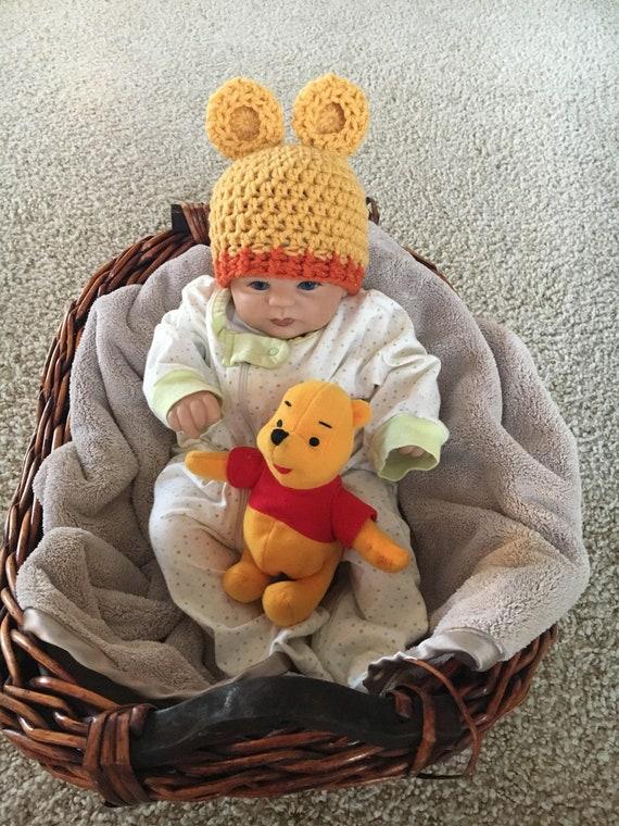 handmade Winnie the Pooh baby hat baby Winnie the Pooh hat  0f2d758965a