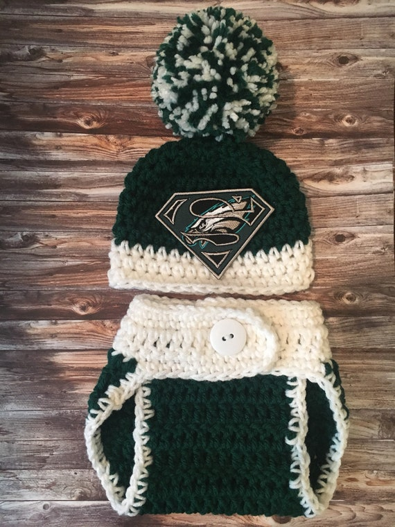 low cost bdb65 6a18e Philadelphia Eagles baby hat, Philadelphia Eagles hat, newborn Philadelphia  Eagles hat, Philadelphia Eagles photo prop, crochet Eagles hat