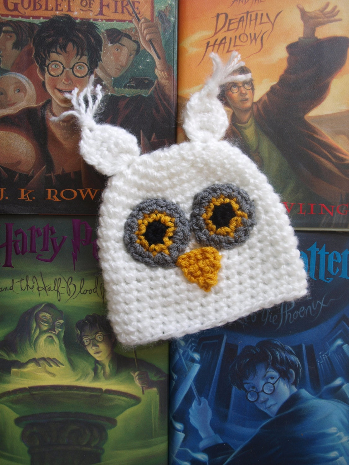 2c5263e9355 Baby owl hat inspired by Hedwig owl hat Hedwig inspired
