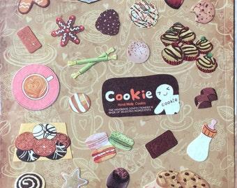 Cookie sticker,bakery sticker,sweet dessert sticker,craft supply,scrapbook supply,diary sticker,colorful sticker