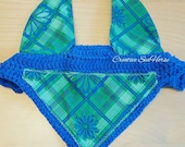 Royal Blue Green plaid - ...