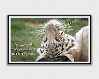 White Tiger, Be Yourself Saying, Frame TV Digital Art