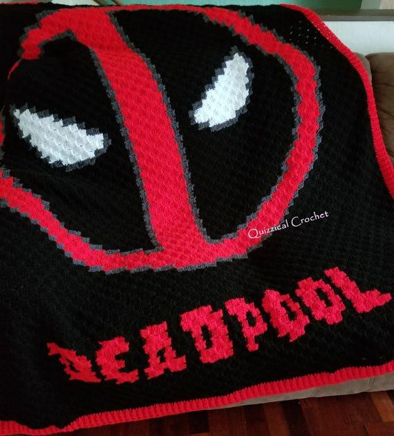 Deadpool Corner To Corner C2c Crochet Blanket Pattern Etsy
