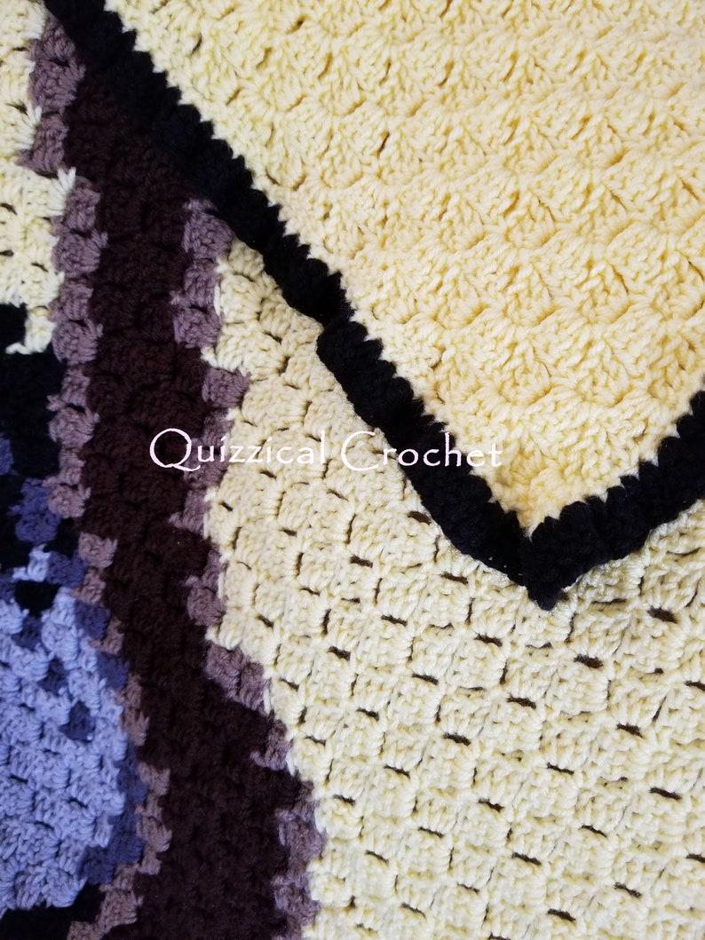 Hufflepuff House Blanket C2C Crochet Pattern