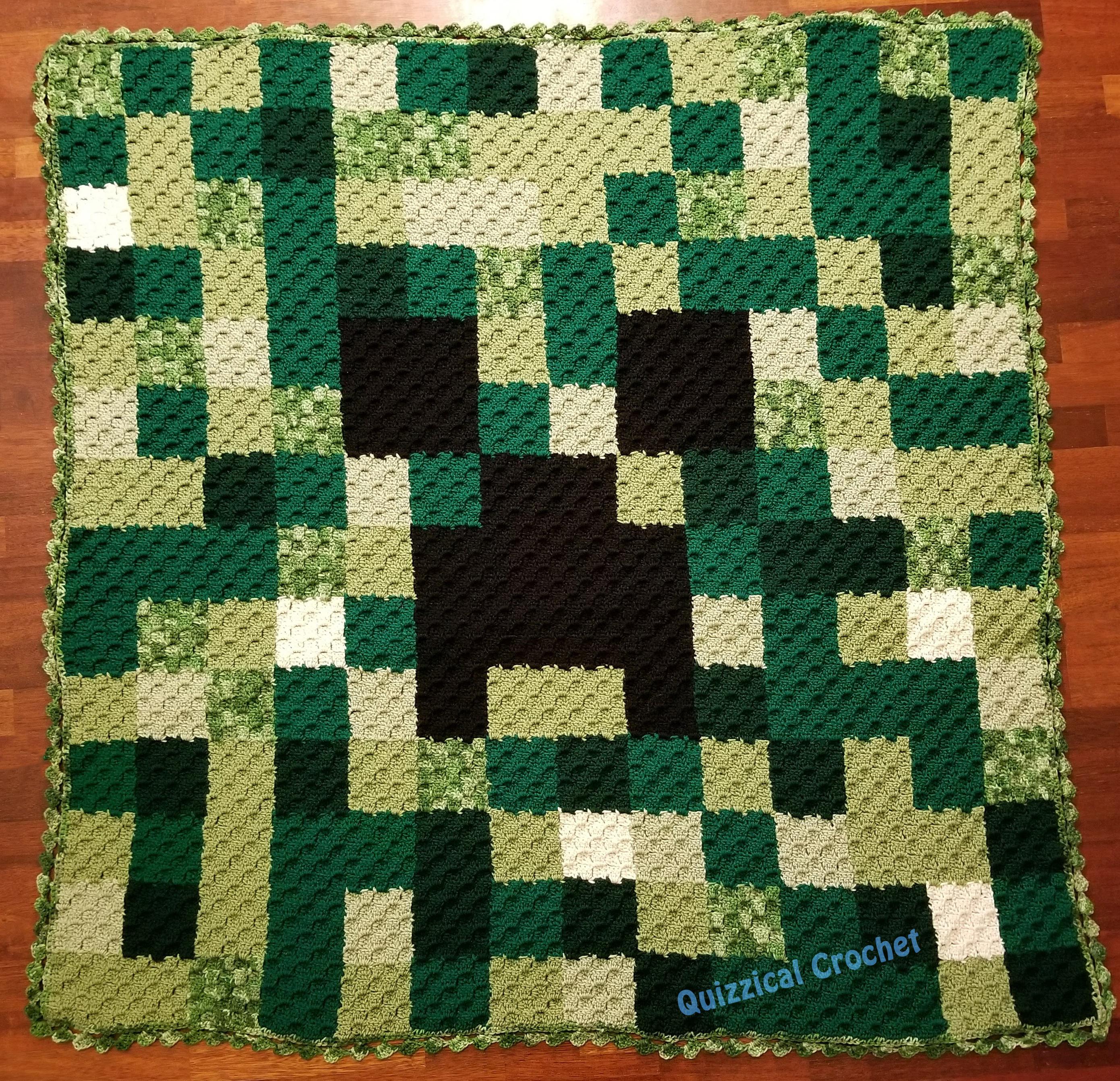 Minecraft Creeper C2c Crochet Pattern Etsy