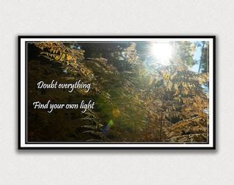 Forest Light, Inspirational Saying, Frame TV Digital Art