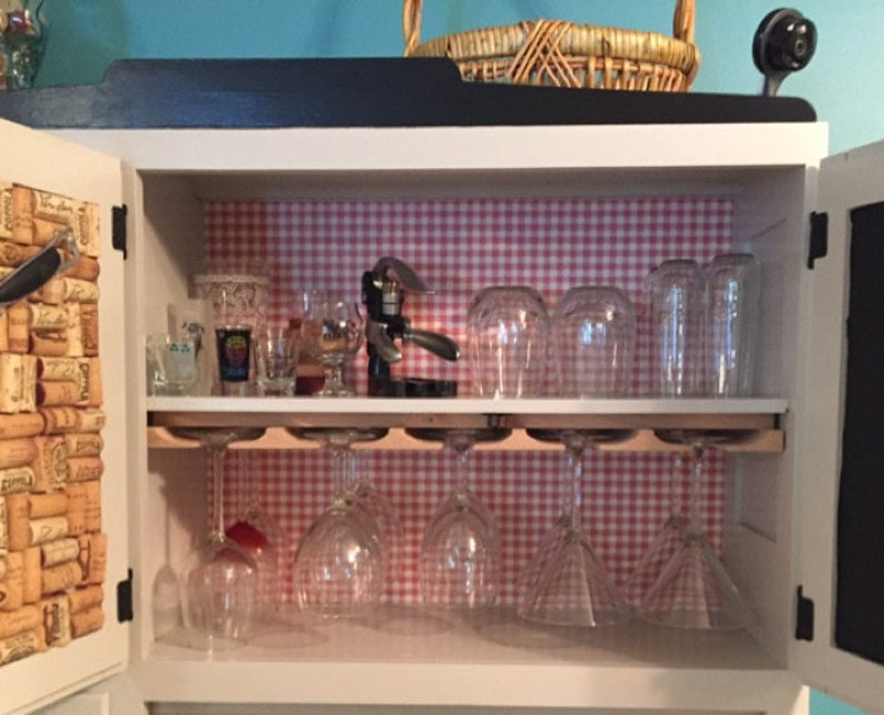 Stemware Holder for Under Cabinet You select the size Wine Glass Rack
