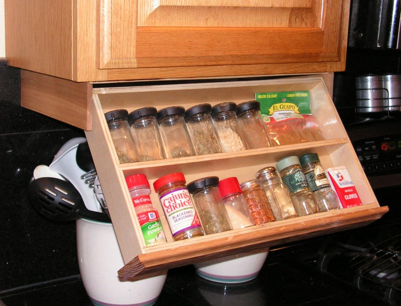 Under Cabinet Spice Rack Etsy