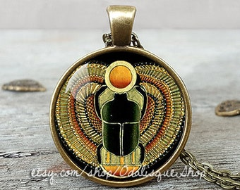 Scarab pendant, Egyptian scarab pendant, Scarab Necklace, Egyptian jewelry, Ancient Egypt jewelry, women's necklace, men's necklace, CB262