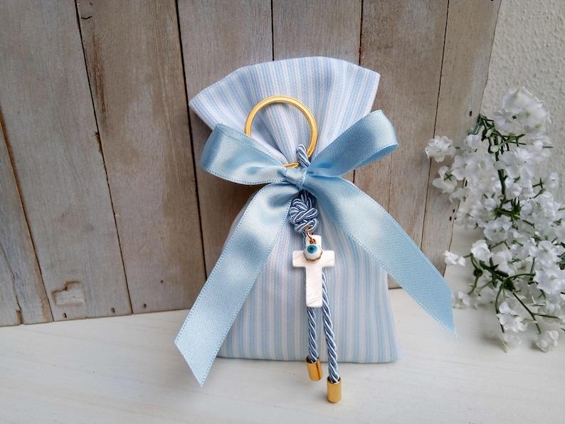 Luxury bomboniere-elegant christening favor 25pcs-evil eye favor-key chain favor-baby shower favor-koufeta bag