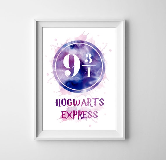 photograph regarding Hogwarts Express Printable named Harry Potter System 9 3/4 watercolor artwork, Hogwarts Categorical poster, Wall artwork, Young children space decor, System 9 3/4 decor, Harry Potter printable