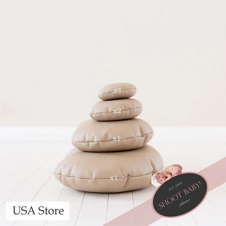 Newborn Posing Pillows Set unfilled Beans Moon Shaped image 0