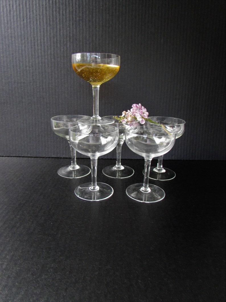 574b5932f6bc Vintage Champagne Glasses Set of 6 Coupe Saucer Elegant