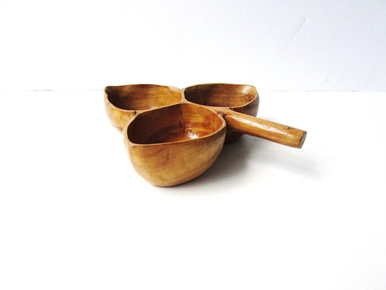 Serrv Peru Wooden Leaf Shaped Bowl Vintage Wood Bowl Wooden Serving Bowl - Decorative Wooden Bowl Acadia Wood