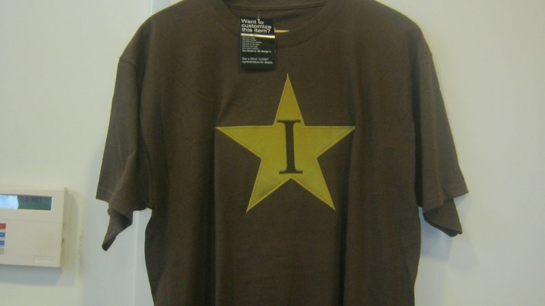 Iota Phi Theta Line t-shirt with Stitched I-Star Logo, Size Small, Brown,  Greek Fraternity Gear