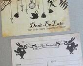 10 Alice in Wonderland Invitations Wedding Birthday Tea Party Baby Shower Vintage Mad Hatter