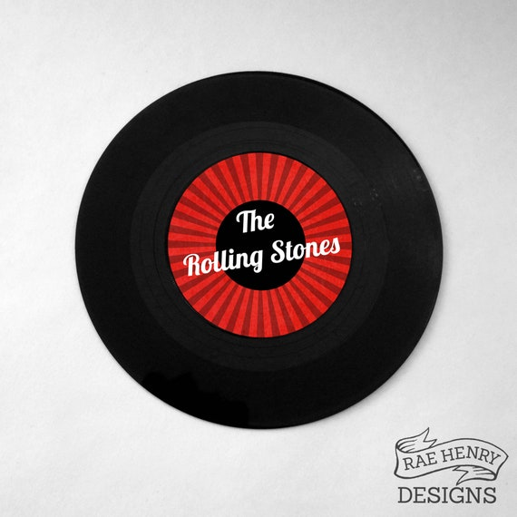 Vinyl Record Table Name Wedding Party Real 7 inch 45s Music Festival Rock  Rockabilly