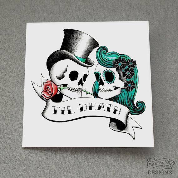 Death Before Dishonor Rockabilly Punk Goth Tattoo