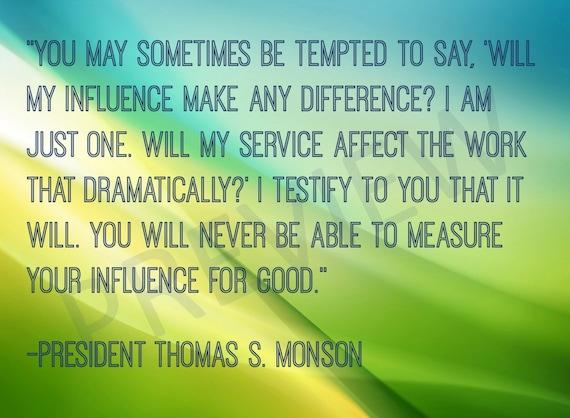 Missionary Quote Lds Mormon Prophet President Thomas S Monson Etsy