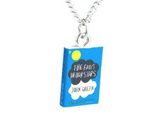 The Fault in our Stars Book Novel Necklace Green