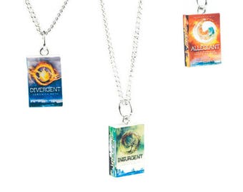 Divergent Inspired Trilogy Series Book Novel Necklace