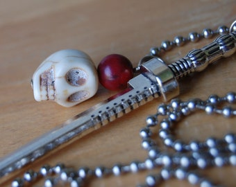 Katana Samurai Sword Pendant,Michonne Inspired Walking Dead