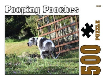 Pooping Pooches Gag Gift Jigsaw Puzzle