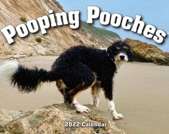 2022 Pooping Pooches Dog Calendar, White Elephant Gag Gift Exchange or Yankee Swap