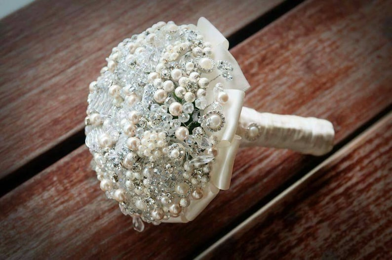 FREE matching button hole Crystal bouquet any colour