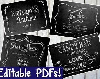 blank chalkboard sign editable diy printable instant