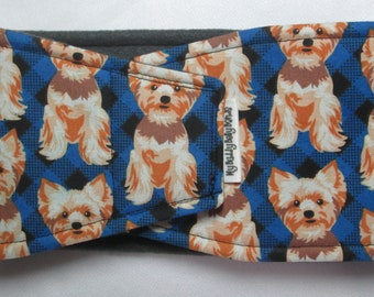 Male Dog Belly Band Diaper for Marking Incontinence w PUL /& All-in-One Options Bones on Tie Dye