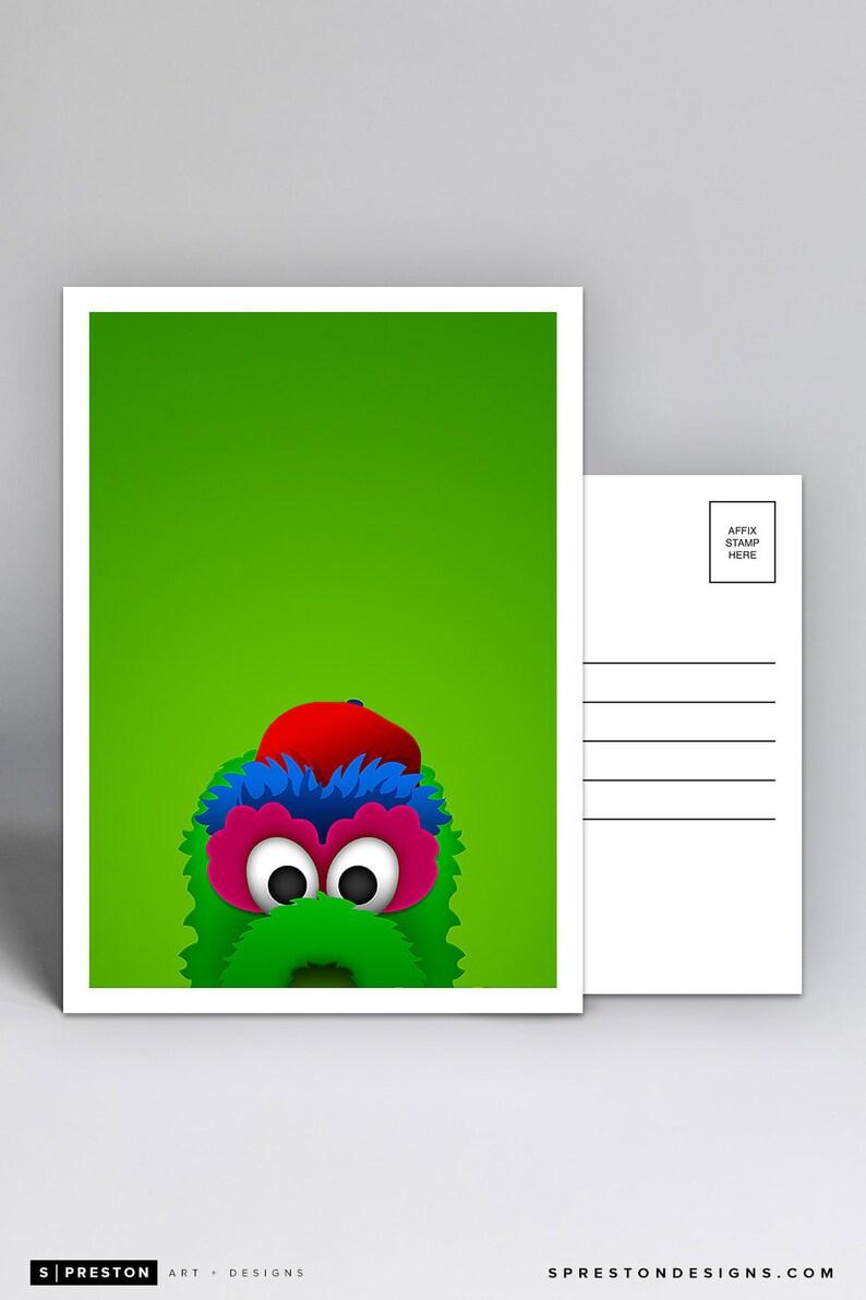 Phillie Phanatic Mascot Philadelphia Phillies Minimalist Postcard by S Preston