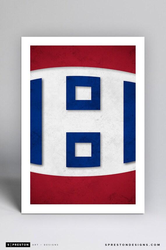 Minimalist Montreal Canadiens Logo - NHL Logo Art Print c9392f51bda6