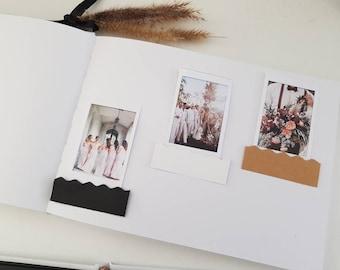 Polaroid Pockets Photo Frame Corner Stickers DIY Photo Album scrapbook - Picture Mounts Instax mini 20 pack Polaroid guest book