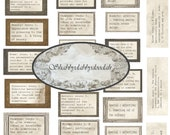 DICTIONARY Definitions - General - Typewriter Font Junk Journal Themed Words Phrases Digital Printable ephemera Sayings Tickets Ephemera