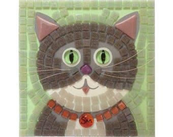 Cat Mosaic Fun Kit 190mm square