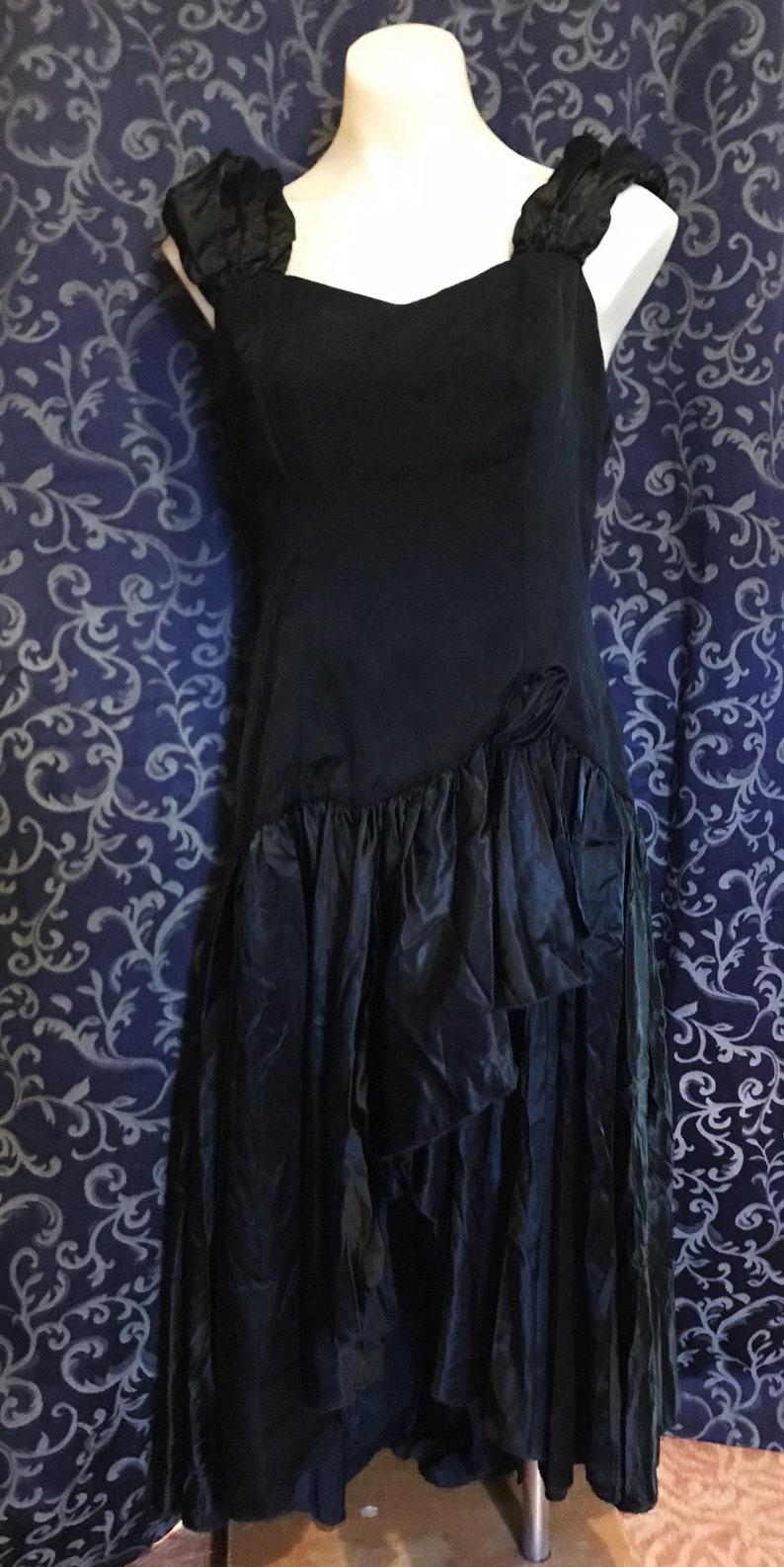 2650cbafe95 Vintage goth gothic party dress prom formal flapper style etsy jpg 794x1586  Flapper goth